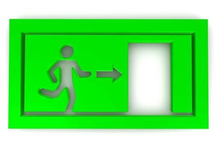 Sign exit. 3d Stock Photo - 5608984
