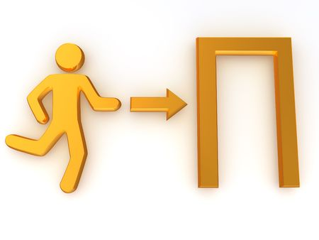 Sign exit. 3d Stock Photo - 5608976