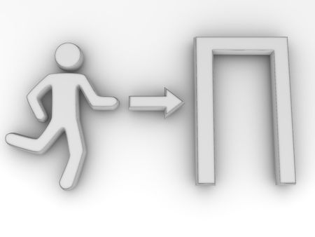 Sign exit. 3d Stock Photo - 5654794
