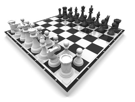 battling: Chess. 3d