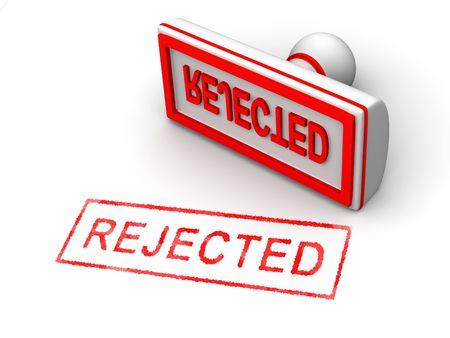 censor: Stamp rejected. 3d