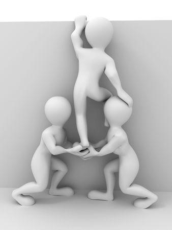 Abstract teamwork. 3d Stock Photo - 5775670