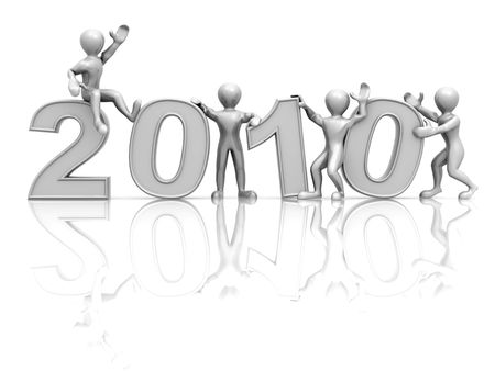 New Year. 2010. 3d photo