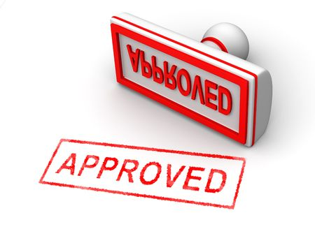 Stamp approved. 3d Stock Photo - 5804322