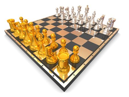 Chess. 3d photo