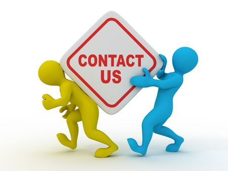 contacts group: Contact us. 3d