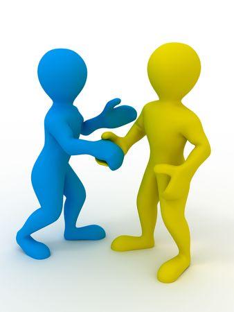 handclasp: Handshake. 3d