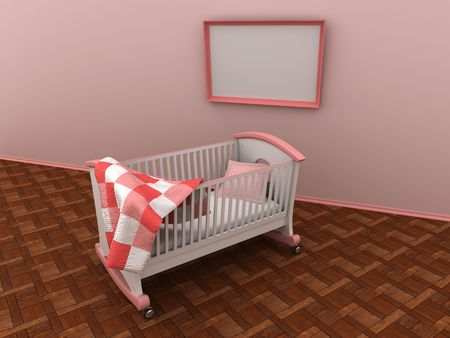 Children's bed. 3d Stock Photo - 6238702