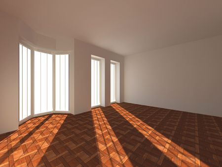 Empty room. 3d photo