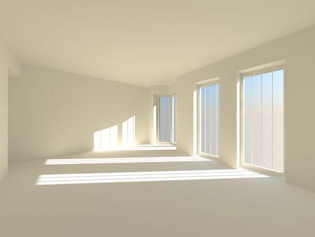 Empty room. 3d Stock Photo - 6238833