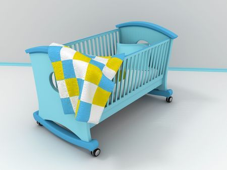 Children's bed. 3d Stock Photo - 6238834