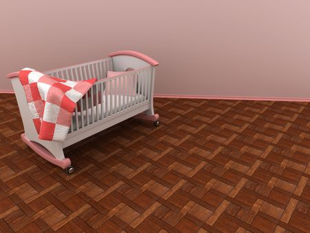 Childrens bed. 3d photo
