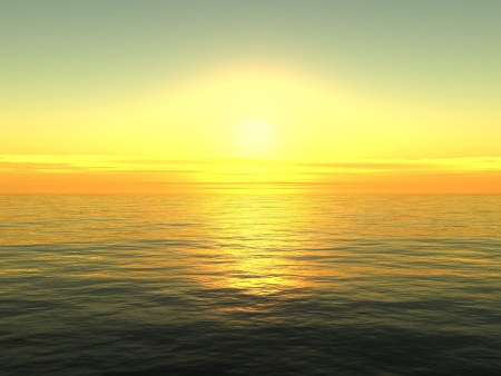 horizon over water: Sunrise Stock Photo