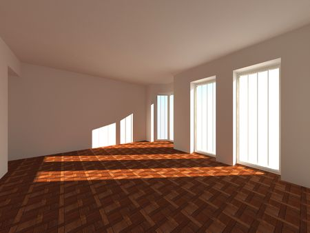 Empty room. 3d Stock Photo - 6338801