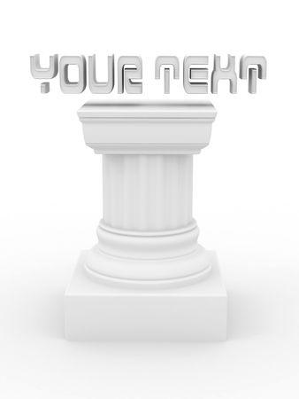 Pedestal. 3d Stock Photo - 6338752
