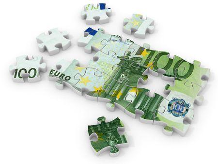 Puzzle euro. 3d photo
