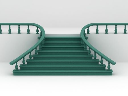 balustrade: Abstract background. Stairs. 3d