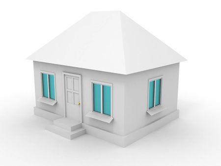 House. 3d photo