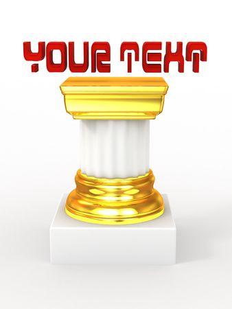 Pedestal. 3d photo