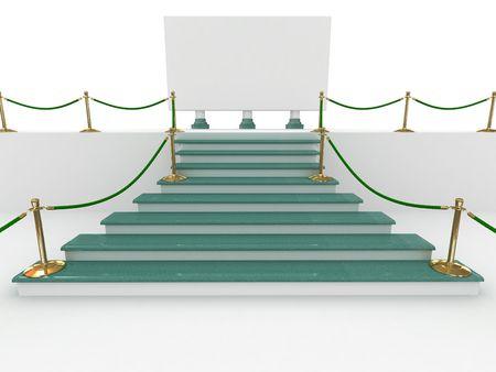 diminishing view: climb on a pedestal. 3d