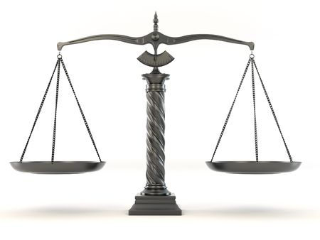 Symbol of justice. Scale. 3d Stock Photo - 6487558
