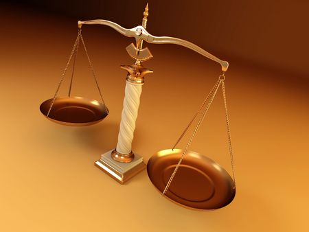 Symbol of justice. Scale. 3d Stock Photo - 6589188