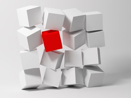 Cubes. Abstract background. 3d photo