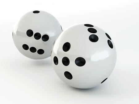 Paradoks: Kostki do gry. Shere. 3D