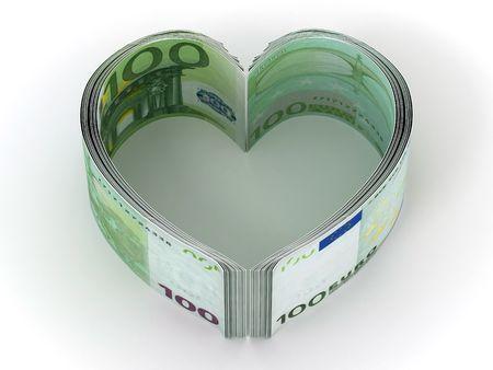 Money. Heart. 3d Stock Photo - 6842516