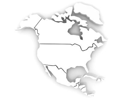 Map of northern america. 3d Stock Photo - 6842494