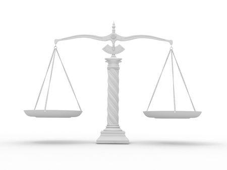 balanza justicia: S�mbolo de la justicia. Escala. 3D