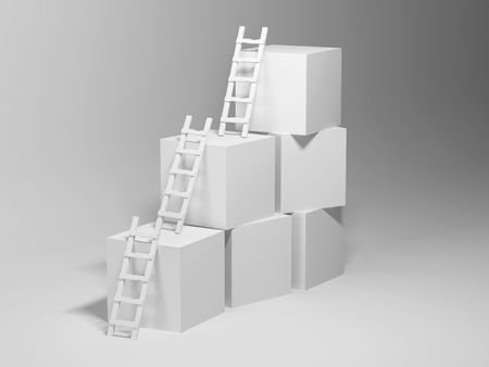 cubicle: Cubes with ladders. 3d