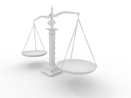 Symbol of justice. Scale. 3d Stock Photo - 7151986
