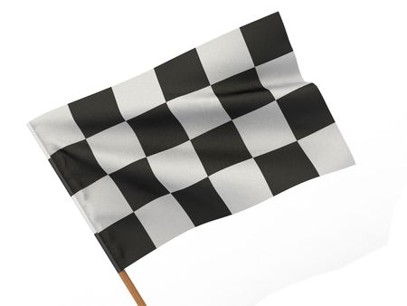 Finishing checkered flag. 3d  Stock Photo - 7295567