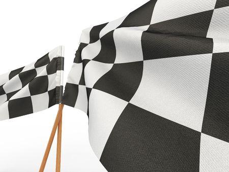 Finishing checkered flag. 3d  Stock Photo - 7295572