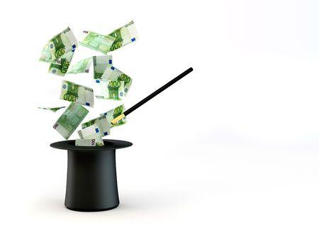 proceeds: Dinero de la nada. magia. 3D
