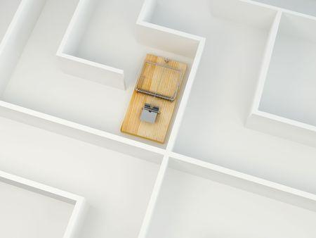 mousetrap: Mousetrap on labyrinth. 3d