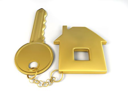 Key with home. 3d Stock Photo - 7320931