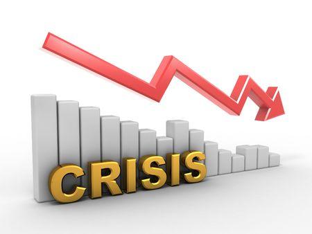 Diagram. Crisis. 3d photo