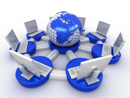 Conceptual image of internet. 3d Stock Photo - 7376883