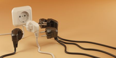 Plugs and Socket. 3d photo
