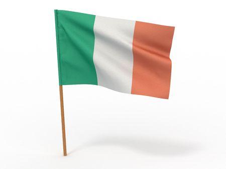 italy culture: Flag of Ireland. 3d
