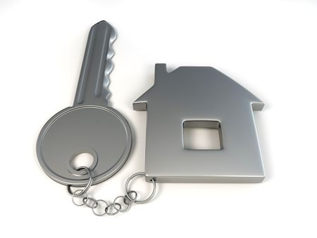 Key with home. 3d Stock Photo - 7442720