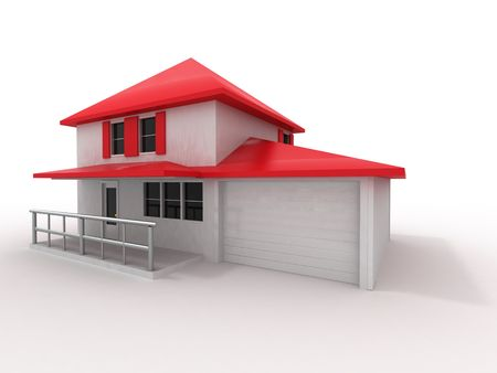 Model of house. 3d photo