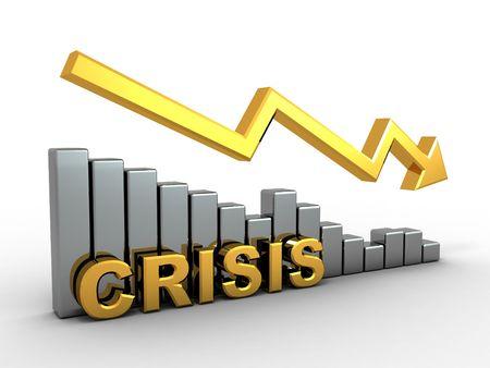 Diagram. Crisis. 3d Stock Photo - 7503661