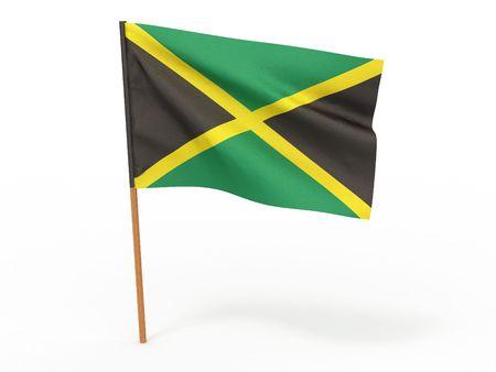Flag of jamaica . 3d photo