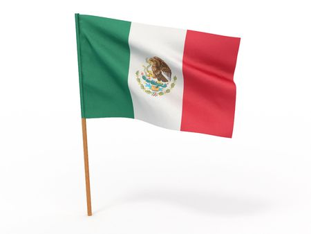 Flag of mexico . 3d photo
