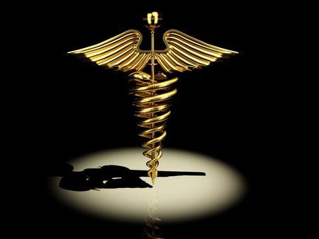 Symbol of medicine. 3d photo