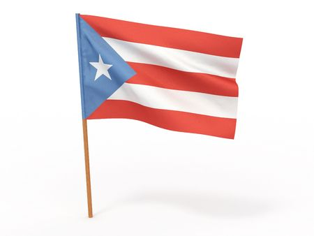 puertorico: Flag of Puerto-Rico. 3d