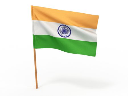 india 3d: Flag of India. 3d